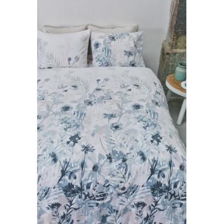 Lenjerie pat cu flori albastre Madeira