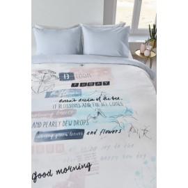 Lenjerie de pat moderna pastel cu mesaje