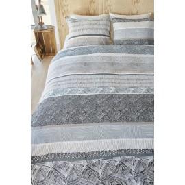Lenjerie de pat alb-negru Nassau