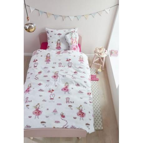 Lenjerie de pat fetite cu zane roz
