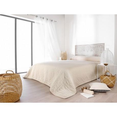 Cuvertura de pat dublu Manosque bej deschis