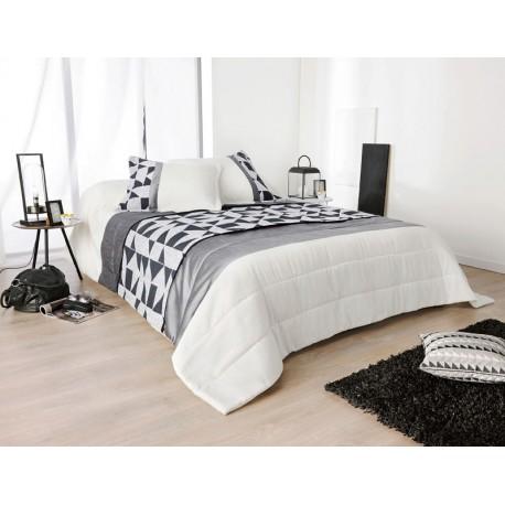 Cuvertura pat dormitor Bingo alb-negru