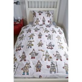 Lenjerie de pat baieti cu cavaleri medievali