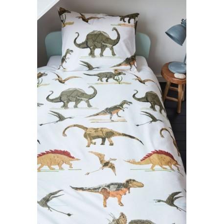Lenjerie pat baieti cu dinozauri