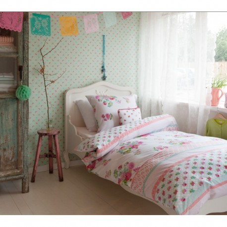 Lenjerie de pat fete cu trandafiri roz
