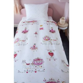 Lenjerie de pat fetite cu printese roz
