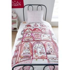 Lenjerie de pat fetite Palatul roz