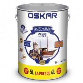Lac pentru lemn Oskar Yacht 3 in 1 Castan 5L