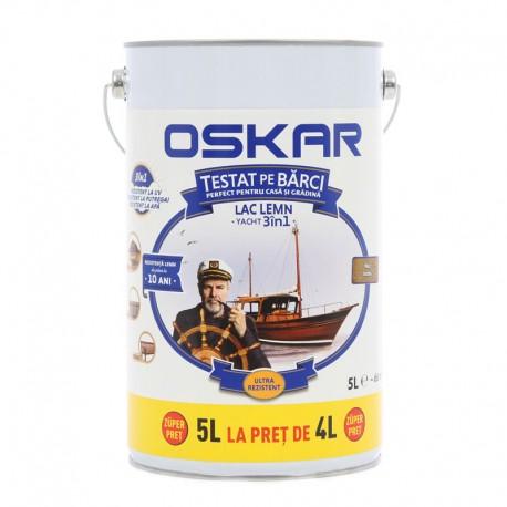 Lac pentru lemn Oskar Yacht 3in1 Nuc inchis 5L