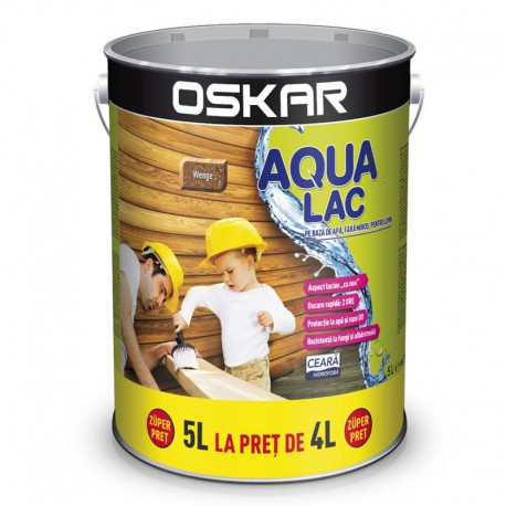 Oskar Aqua Lac pentru lemn Wenge 5L