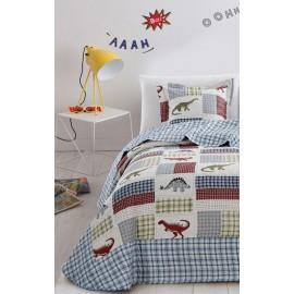 Cuvertura de pat copii cu dinozauri