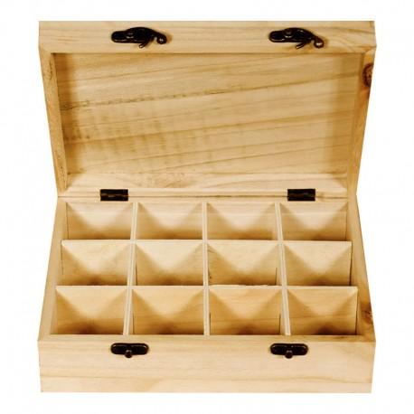 Cutie lemn pentru plicuri de ceai