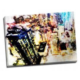 Tablou decorativ modern cu zgarie-nori