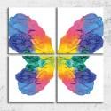 Tablouri canvas Fluture curcubeu