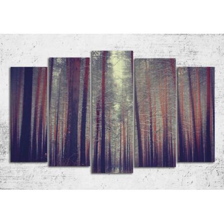 Tablouri de iarna - Padure de pini
