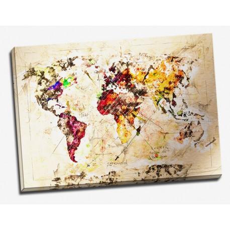 Tablou abstract Harta lumii