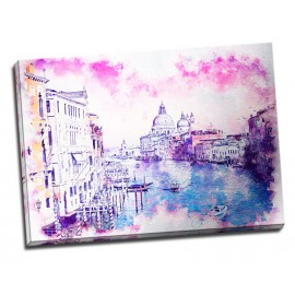 Tablou Venetia printat pe metal striat