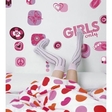 Decorare cu Stickere de perete Girls Only