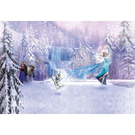 Fototapet Frozen - Elsa si Olaf dansand