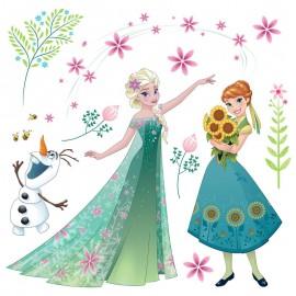 Stickere geam Frozen - Elsa si Anna