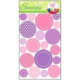 Autocolante cercuri roz si lila