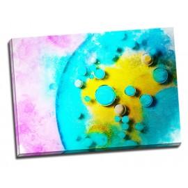 Tablou abstract Cercuri colorate