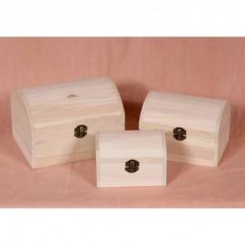 Set cutii lemn - cufar simplu