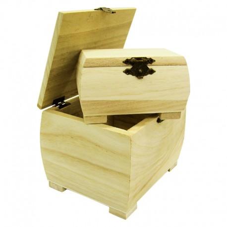 Set 2 cutii lemn cu picioare
