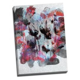 Tablou floral - Lalele negre