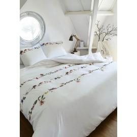 Lenjerie de pat alba cu ghirlande