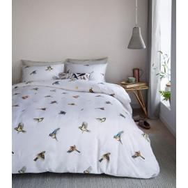 Lenjerie de pat cu pasarele multicolore
