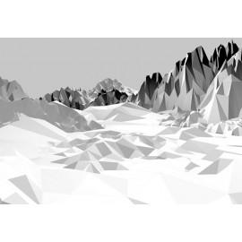 Fototapet alb negru Peisaj montan
