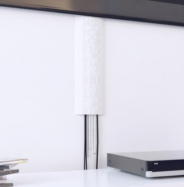 Profil ST3 pentru ascundere cabluri TV