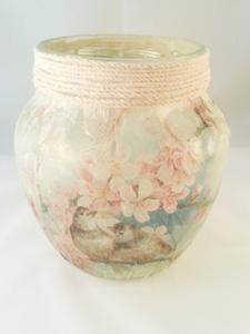 Recycled Shabby Vase